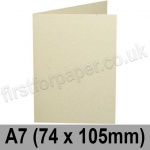 Harrier Speckled, Pre-creased, Single Fold Cards, 240gsm, 74 x 105mm (A7), Ivory