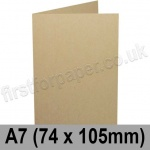 Harrier Speckled, Pre-creased, Single Fold Cards, 240gsm, 74 x 105mm (A7), Tan