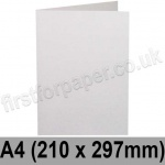 Harrier Speckled, Pre-creased, Single Fold Cards, 240gsm, 210 x 297mm (A4), Natural White