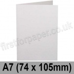 Harrier Speckled, Pre-creased, Single Fold Cards, 240gsm, 74 x 105mm (A7), Natural White