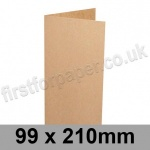 Kreative Kraft, Pre-creased, Single Fold Cards, 225gsm, 99 x 210mm
