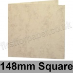 Marlmarque, Pre-creased, Single Fold Cards, 300gsm, 148mm Square, Olympic Ivory