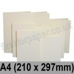 Rapid Colour Card, Pre-creased, Single Fold Cards, 225gsm, 210 x 297mm (A4), Eider Vellum