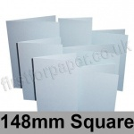Stardream, Pre-creased, Single Fold Cards, 285gsm, 148mm Square, Aquamarine