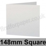 Stardream, Pre-creased, Single Fold Cards, 285gsm, 148mm Square, Crystal White