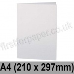 Stargazer Pearlescent, Pre-creased, Single Fold Cards, 300gsm, 210 x 297mm (A4), Arctic White