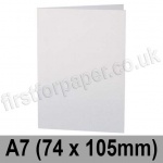 Stargazer Pearlescent, Pre-creased, Single Fold Cards, 300gsm, 74 x 105mm (A7), Arctic White