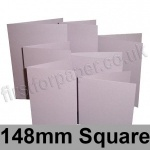 Stardream, Pre-creased, Single Fold Cards, 285gsm, 148mm Square, Kunzite