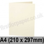 Stargazer Pearlescent, Pre-creased, Single Fold Cards, 300gsm, 210 x 297mm (A4), Oyster