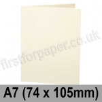 Stargazer Pearlescent, Pre-creased, Single Fold Cards, 300gsm, 74 x 105mm (A7), Oyster