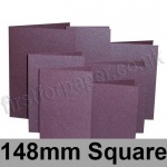 Stardream, Pre-creased, Single Fold Cards, 285gsm, 148mm Square, Ruby