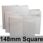 Stardream, Pre-creased, Single Fold Cards, 285gsm, 148mm Square, Silver