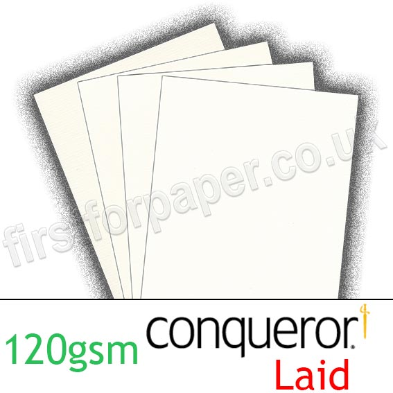 Conqueror Laid Texture, 120gsm, High White