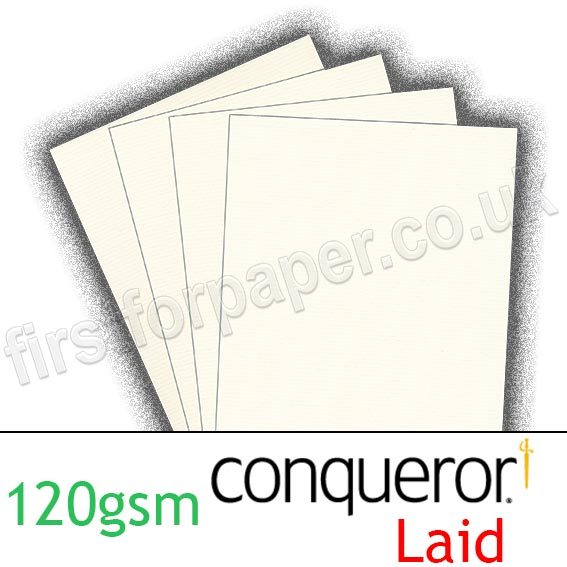 Conqueror Laid Texture, 120gsm, Oyster