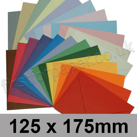Spectrum Tinted Gummed Envelopes, 125 x 175mm