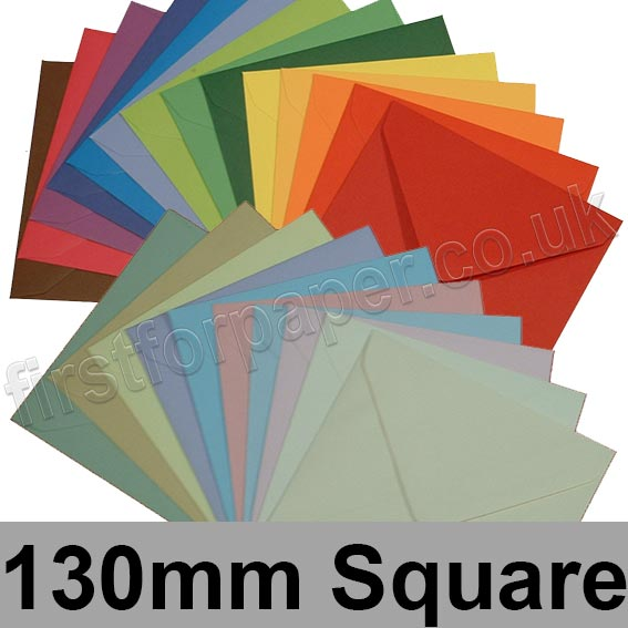 Spectrum Tinted Gummed Envelopes, 130 x 130mm