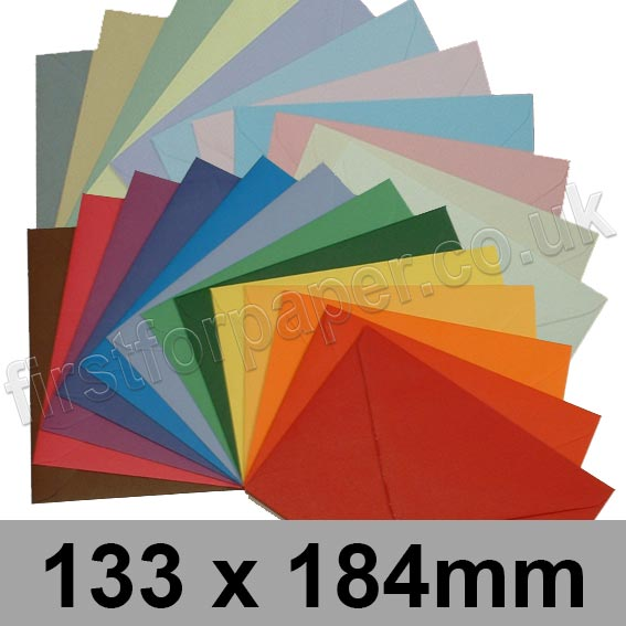 Spectrum Tinted Gummed Envelopes, 133 x 184mm