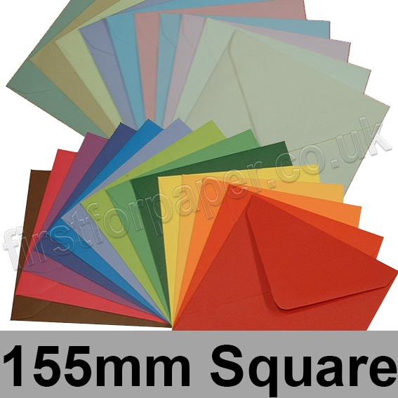 Spectrum Tinted Gummed Envelopes, 155 x 155mm