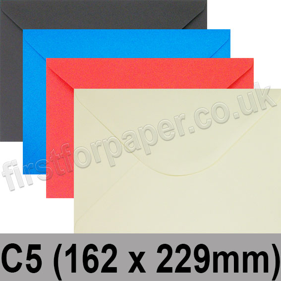 Spectrum Tinted Gummed Envelopes, C5 (162 x 229mm)