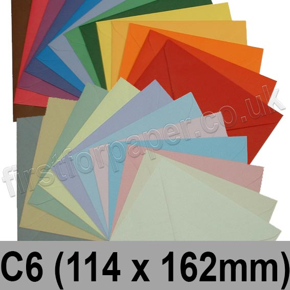 Spectrum Tinted Gummed Envelopes, C6 (114 x 162mm)