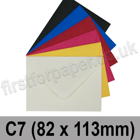 Spectrum Tinted Gummed Envelopes, C7 (82 x 113mm)