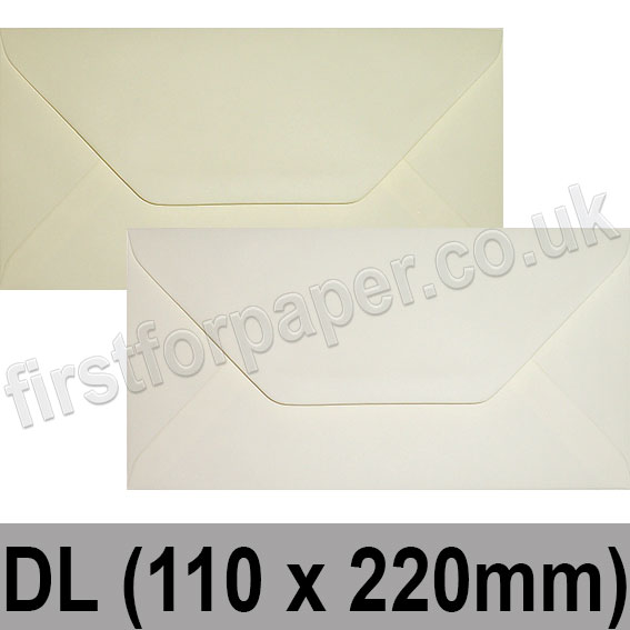 Spectrum Tinted Gummed Envelopes, DL (110 x 220mm)