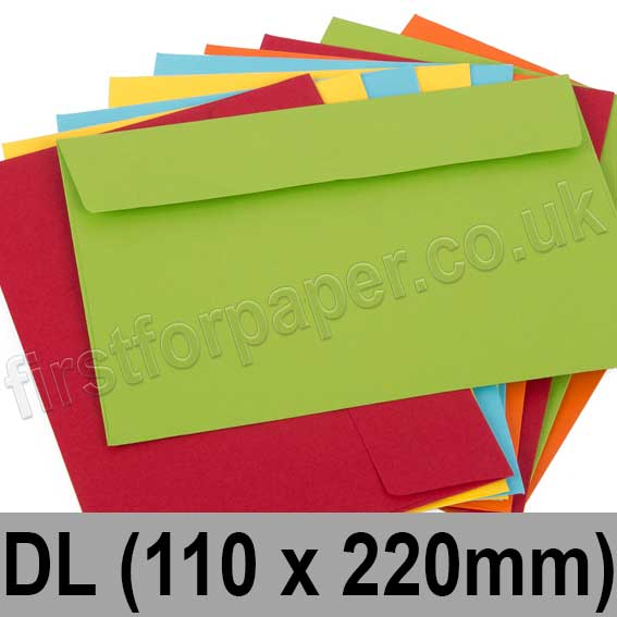 Calypso Colour Envelopes DL (110 x 220mm)