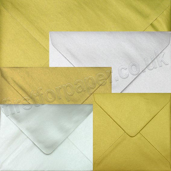 Spectrum Metallic Gold & Silver Envelopes