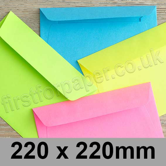 Creative Colour Peel & Seal Envelopes 220 x 220mm