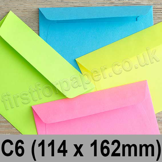 Creative Colour Peel & Seal Envelopes C6 (114 x 162mm)