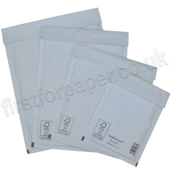 Featherpost White Padded Envelopes