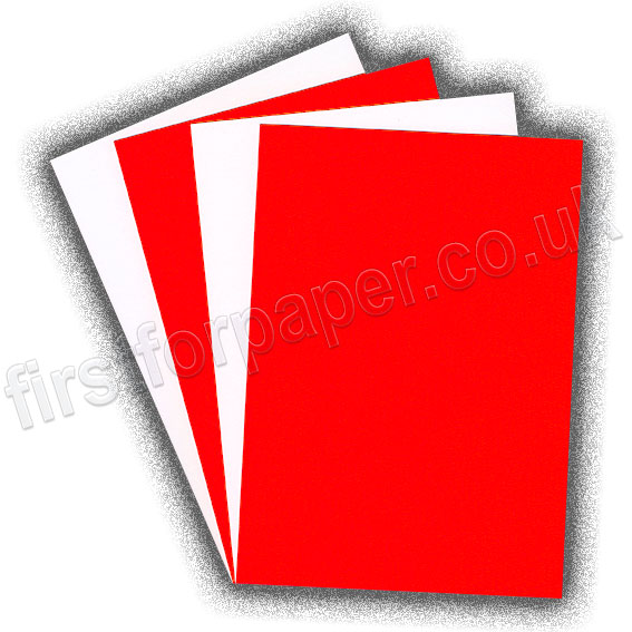 Fluorescent Card, 255gsm, Red