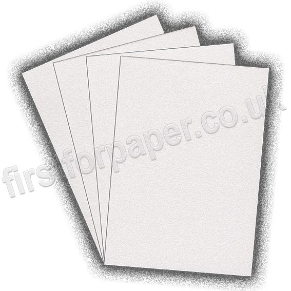 Galaxia Pearlescent Single Sided Card, 310gsm, White