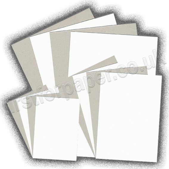 Grey Backed White Lined Chipboard