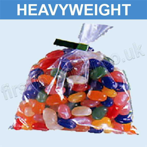 Heavyweight Open Top Clear Polythene Bags