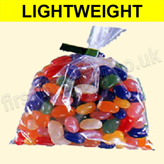 Lightweight Open Top Clear Polythene Bags