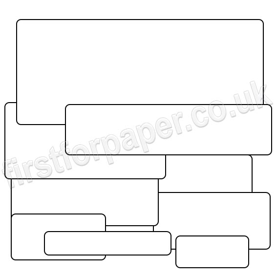 PCL White Labels Rectangles