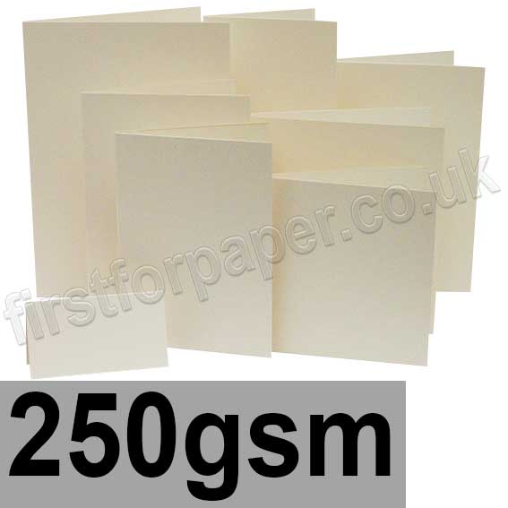 Advocate Smooth, Pre-Creased Cards, 250gsm, Natural White