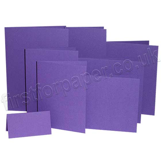 Colorset Recycled, 270gsm, Pre-Creased, Single Fold Cards, Amethyst