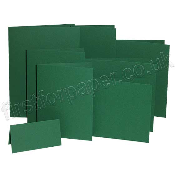 Colorset Recycled, 270gsm, Pre-Creased, Single Fold Cards, Evergreen