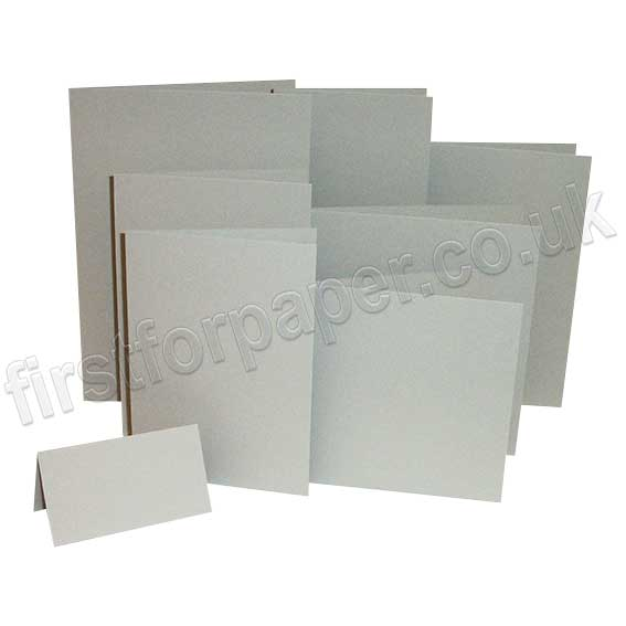 Colorset Recycled, 270gsm, Pre-Creased, Single Fold Cards, Light Grey