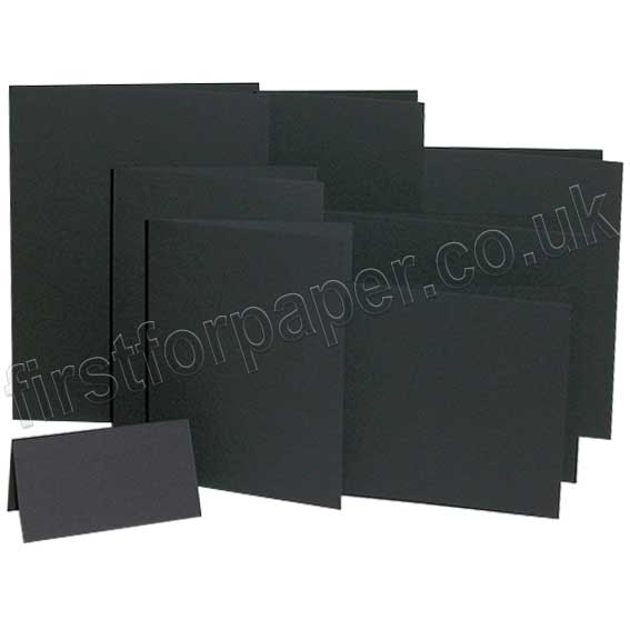 Colorset Recycled, 270gsm, Pre-Creased, Single Fold Cards, Nero