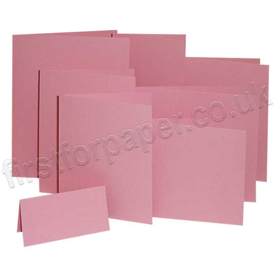 Colorset Recycled, 270gsm, Pre-Creased, Single Fold Cards, Pink Ice