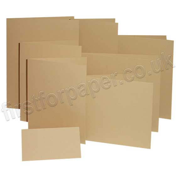 Colorset Recycled, 270gsm, Pre-Creased, Single Fold Cards, Sandstone