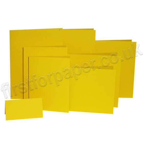 Colorset Recycled, 270gsm, Pre-Creased, Single Fold Cards, Solar