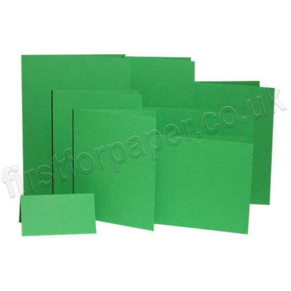 Colorset Recycled, 270gsm, Pre-Creased, Single Fold Cards, Spring Green