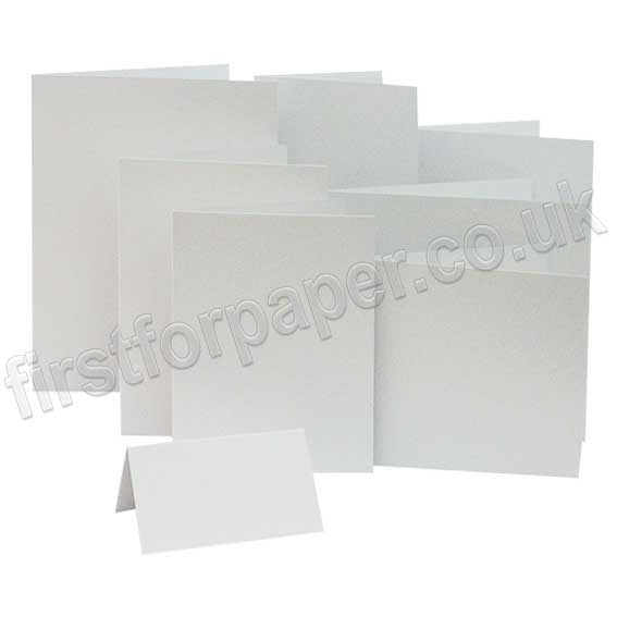 Colorset Recycled, 270gsm, Pre-Creased, Single Fold Cards, White