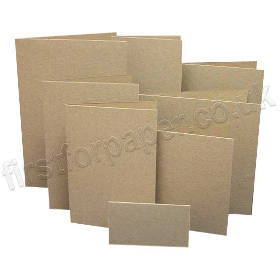 Cairn Eco Kraft, Pre-Creased, Single Fold Cards