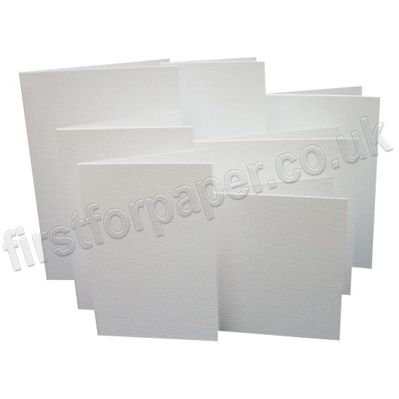 Cumulus Felt Marked, Pre-Creased, Single Fold Cards, White