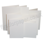 Hammer Texture, Pre-Creased, Single Fold Cards, White